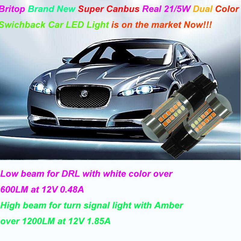Britop eingebauter Canbus-Zweifarben-Real 21 / 5W DRL + LED-Blinklicht jetzt auf den Markt gebracht