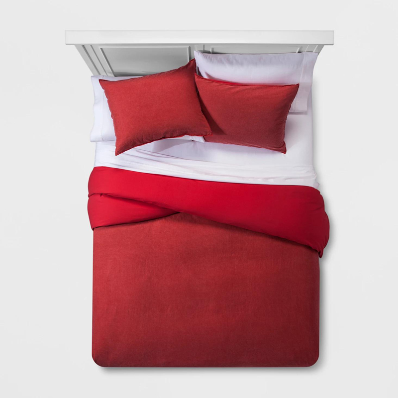 Einfarbiger waschbarer Bettwäsche-Bettbezug aus Baumwolle