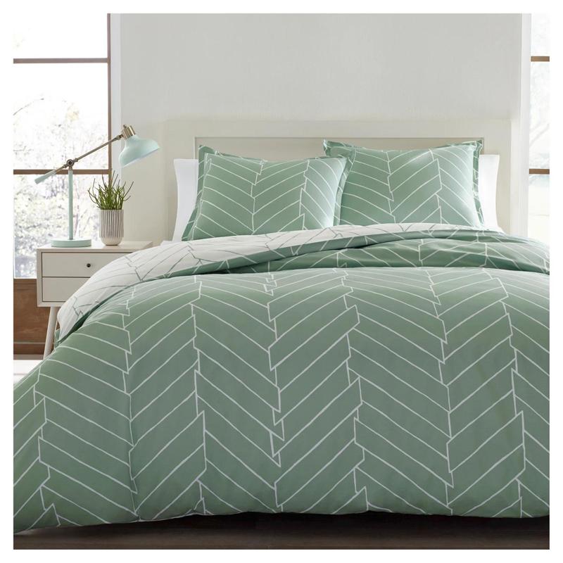Bedrucktes waschbares Bettbezugset aus Polyester-Bettwäsche