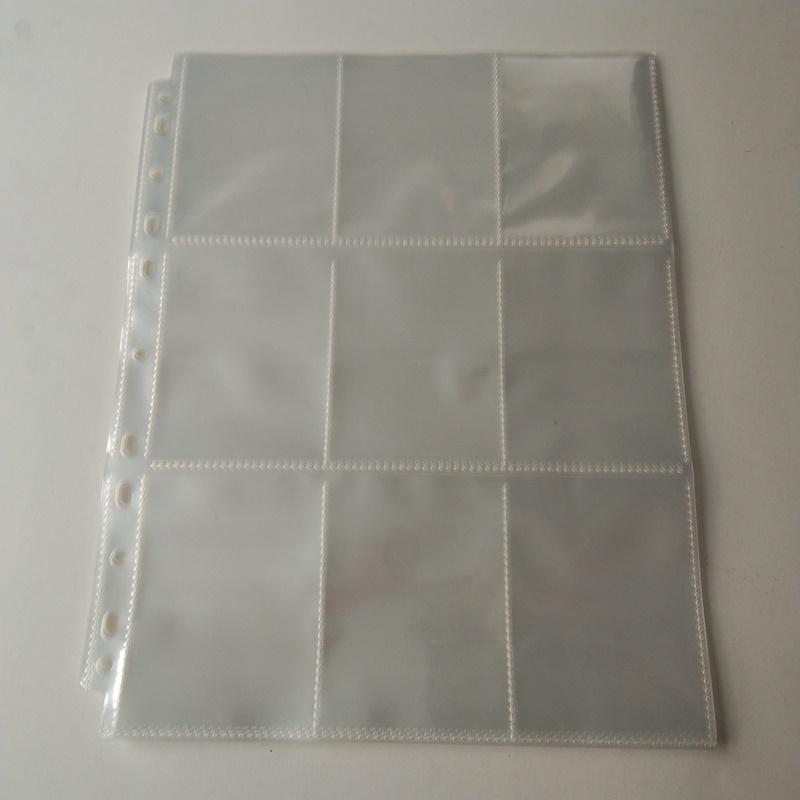 9 Pocket Poly Gaming Card Holder Seitenschutzfolien aus Plastikfolie