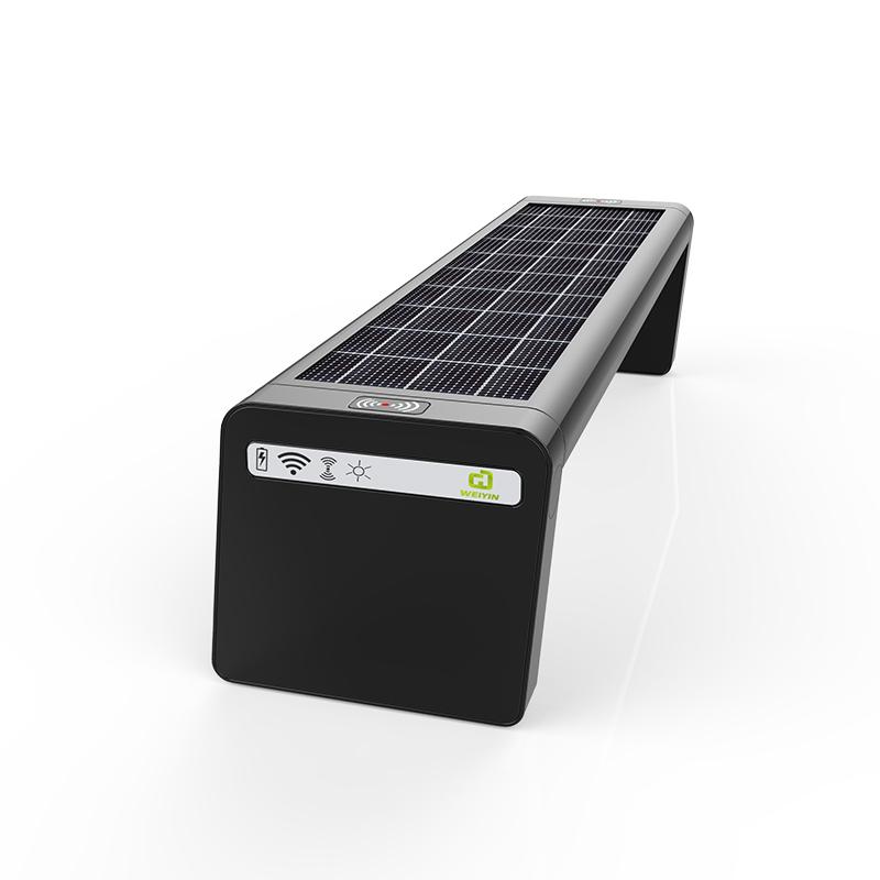 Solar Smart Bench Optionaler Fahrradständer und LED-Bildschirm auf der Rückseite