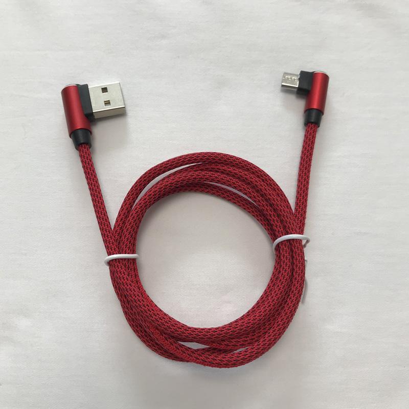 Geflochtenes Datenkabel Schnelles Aufladen rundes Aluminiumgehäuse USB-Kabel für Micro-USB, Typ C, iPhone-Blitzladung und -synchronisation