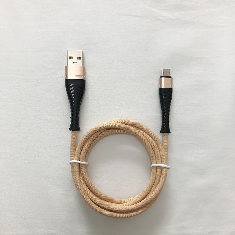3.0A Geflochtenes, schnelles Aufladen rundes Aluminiumgehäuse Flex Biegen Verwicklungsfreies USB-Datenkabel für Micro-USB, Typ C, iPhone Blitzladung und Synchronisation