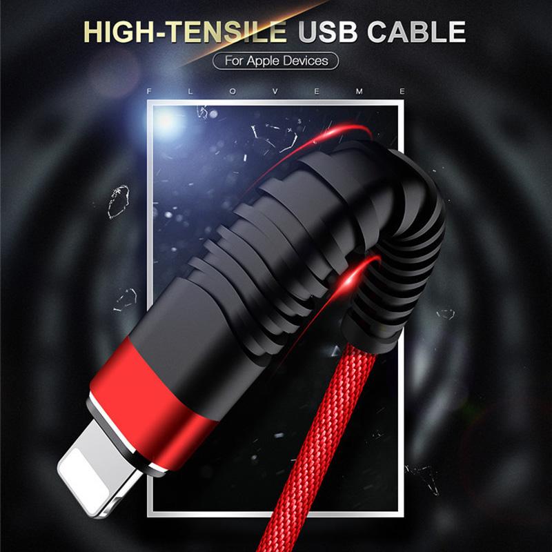 Geflochtenes schnelles Aufladen rundes Aluminiumgehäuse Flex Biegung Verwirrungsfreies USB-Datenkabel für Micro-USB, Typ C, iPhone Blitzladung und Synchronisation