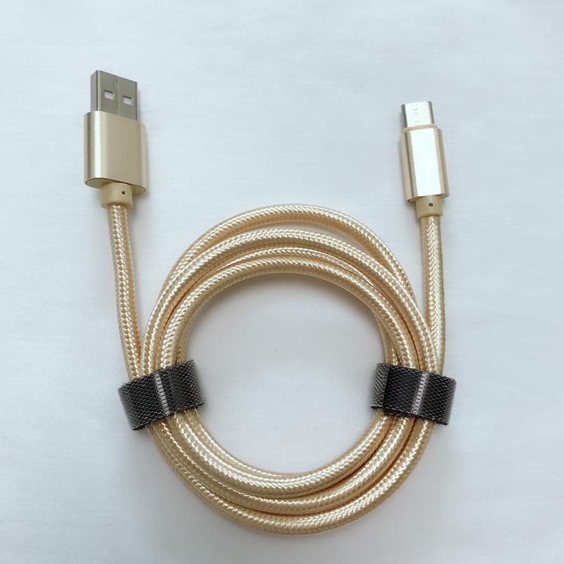 Guter Preis Geflochtenes schnelles Aufladen rundes Aluminiumgehäuse USB-Datenkabel für Micro-USB, Typ C, iPhone Blitzladung und Synchronisation