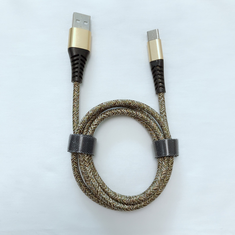 Guter Preis Neuer geflochtener Flex, der schnelles Aufladen rundes Aluminiumgehäuse USB-Datenkabel für Micro-USB, Typ C, iPhone Blitzladung und Synchronisierung verbiegt