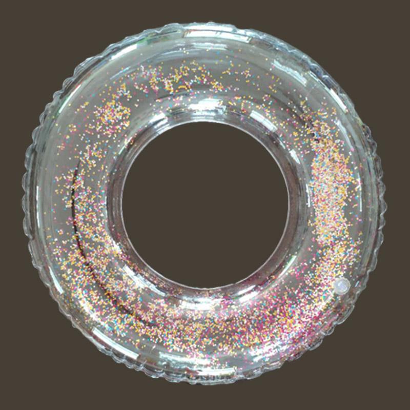Aufblasbarer transparenter Glitter-Pool-Schwimmring für Kinder