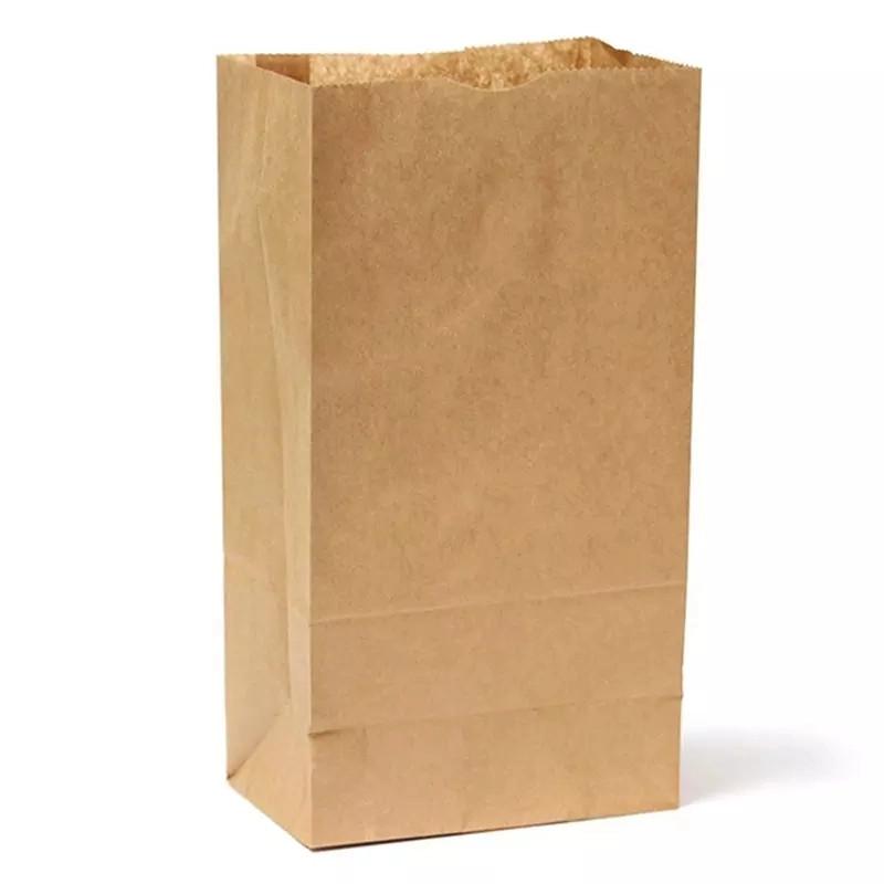 Beutel Papier Lebensmittel Papiertüte braun recycelt Luxuseinkauf Supermarkt Tasche Papier
