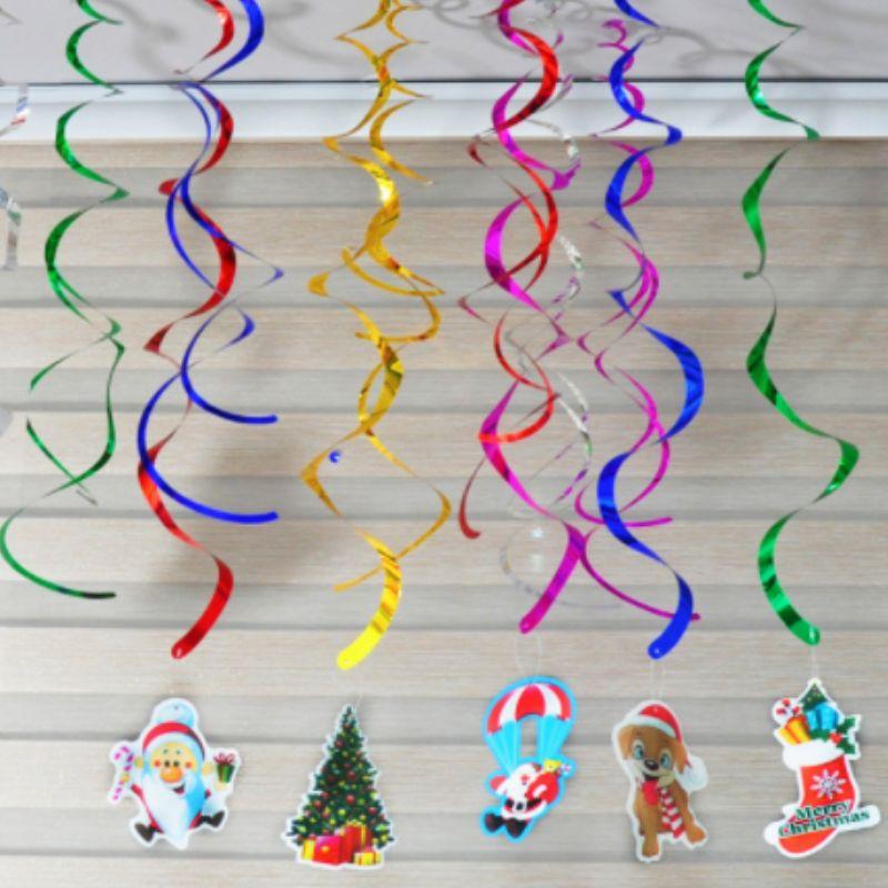 Club Party Dekorationen Goldfolie Decke wirbelt hängende Dekorationen