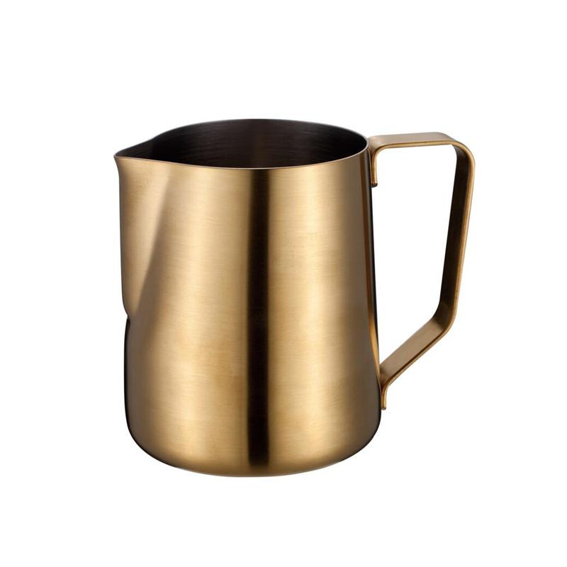 Klassische Espresso-Milchschäumer aus Edelstahl mit 14 Kapazitäten für Latte Art