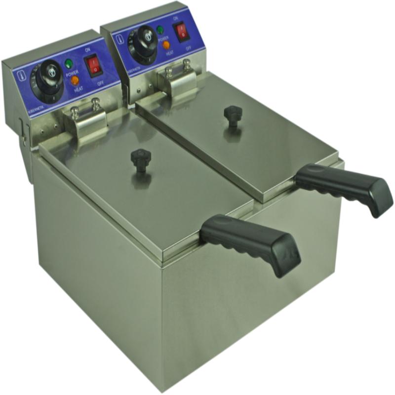 elektrische friteuse zwei tank