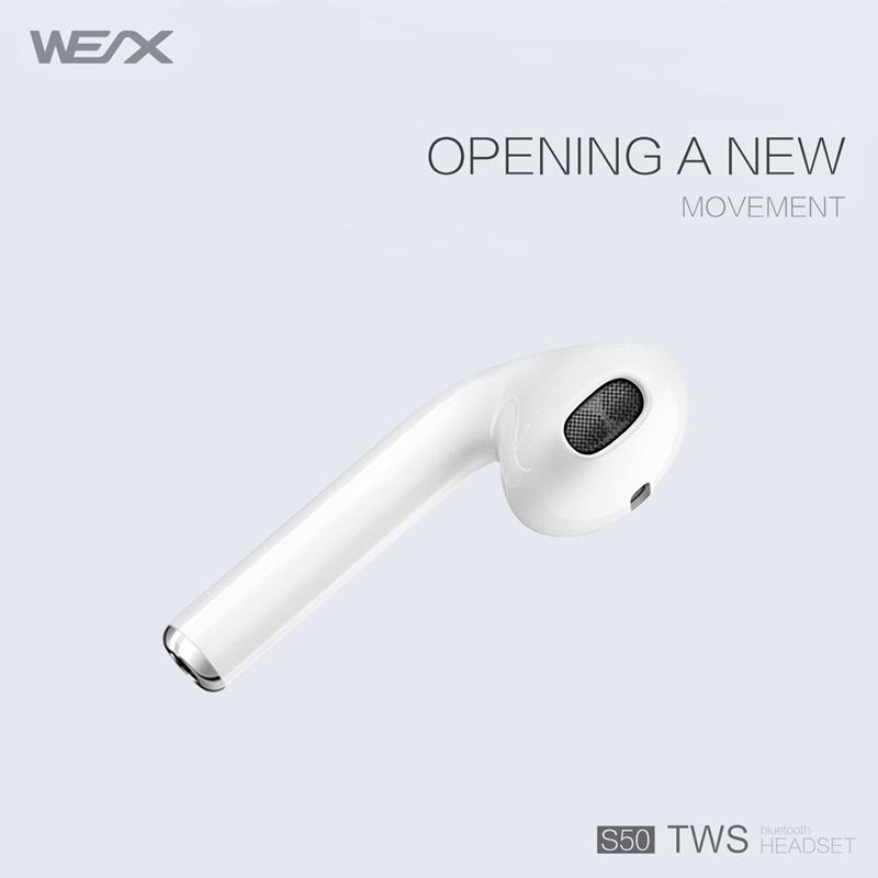 WEX S50 TWS Earphones, echte kabellose Stereo-Ohrhörer