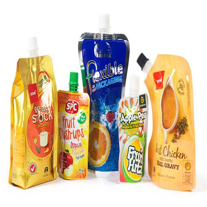 kundenspezifisches 200ml flüssiges Aluminiumplastikgetränk organischer Bananenfruchtgeleesaftverpackungsspeicher doypack Tüllenbeutel-Saftbeutel