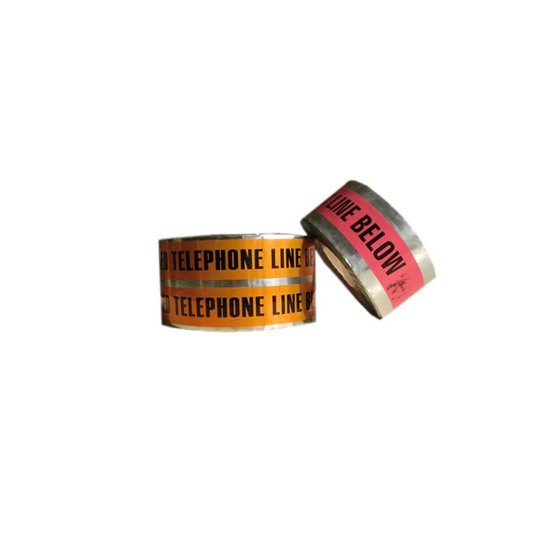 Hersteller hohe Qualität pro Schnitt PVC Barrikade unterirdisch nachweisbar Kabel Warnung Aluminiumfolie Band