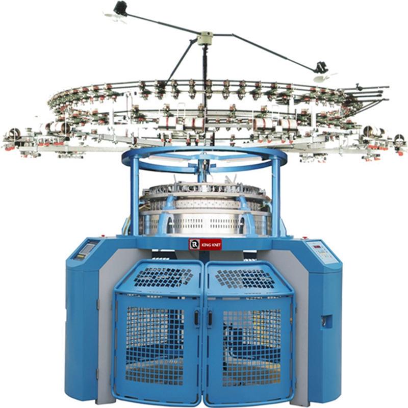 Korea 4 Spur Single Trikot jacquard Rundstrickmaschine