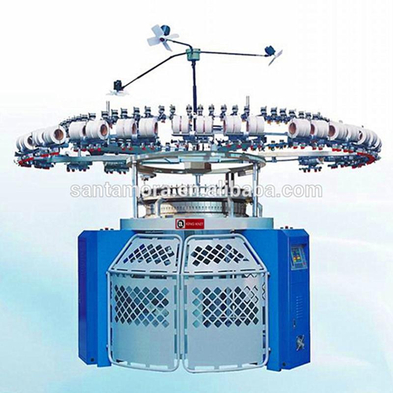 Electronic auto stripe Rundstrickmaschine Single Trikot