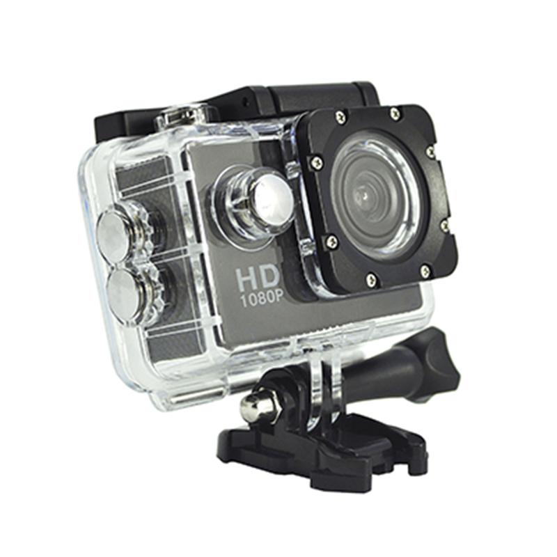 Tragbare Real HD 720P-Actionkamera mit 140-Grad-Betrachtungswinkel und 2,0-Zoll-Bildschirm D12A