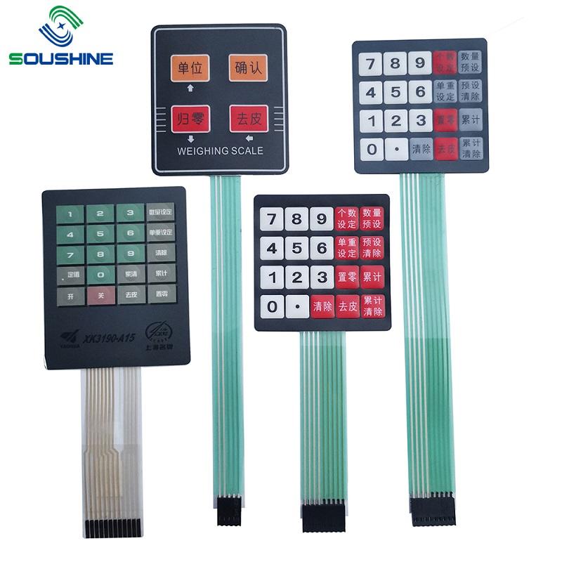 Kundenspezifischer Membranschalter / Tastatur der Skalen