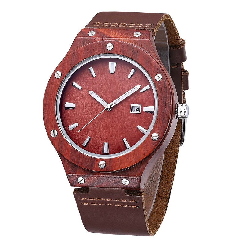 Holz Armbanduhr und beste Leder Valentine Paare Armbanduhr