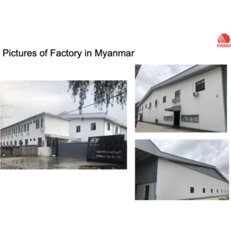 Myanmar-Fabrik in vollem Besitz
