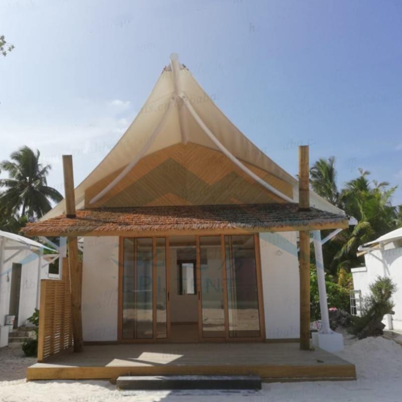 Malediven Badeort Hotel Unterkunft Zelte