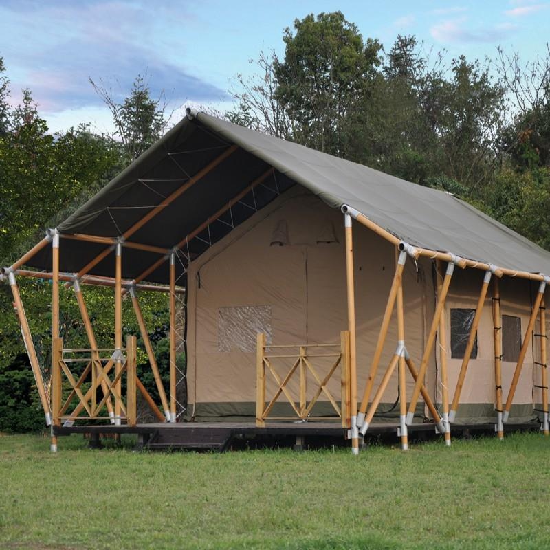 Holzstruktur Leinwand Camp Glamping Zelt