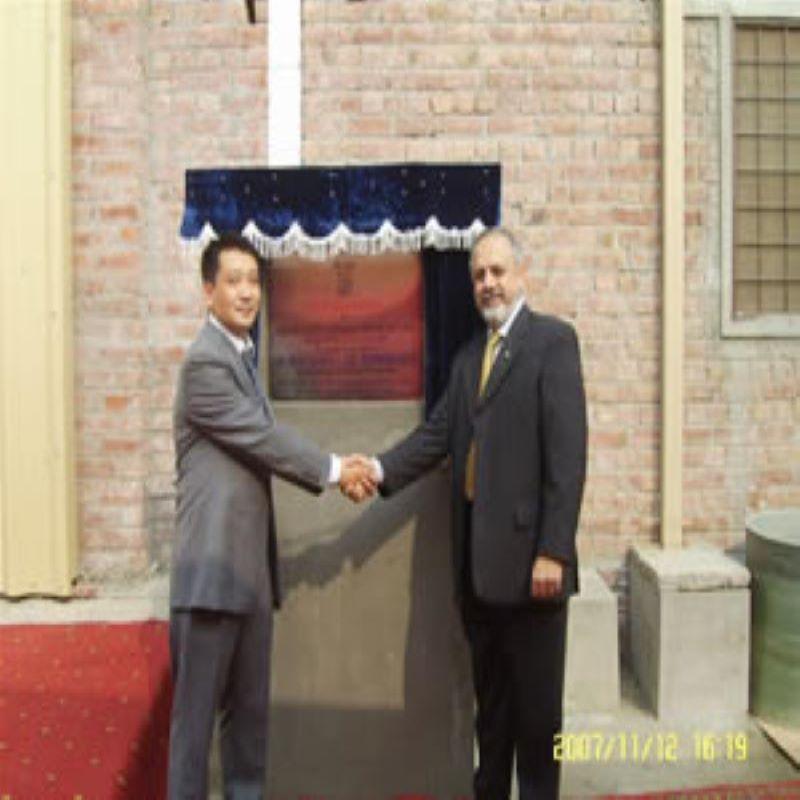 Herr Shan Xiaowu nahm an der Eröffnungsfeier der Fabrik teil