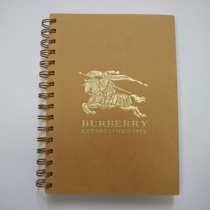 Goldstempelspulenbindung Notebook Retro-Stil